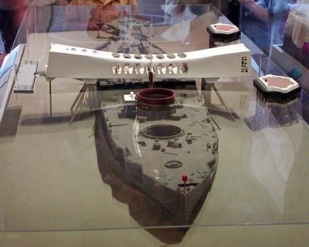 model of USS Arizona Memorial at Pearl Harbor