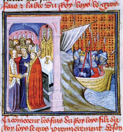 king louis vii & queen eleanor depart for the 2nd crusade
