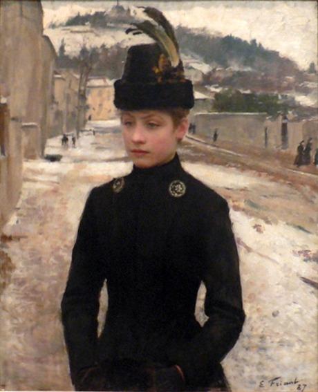 File:Emile Friant Jeune nanceienne dans un paysage de neige 1887.jpg