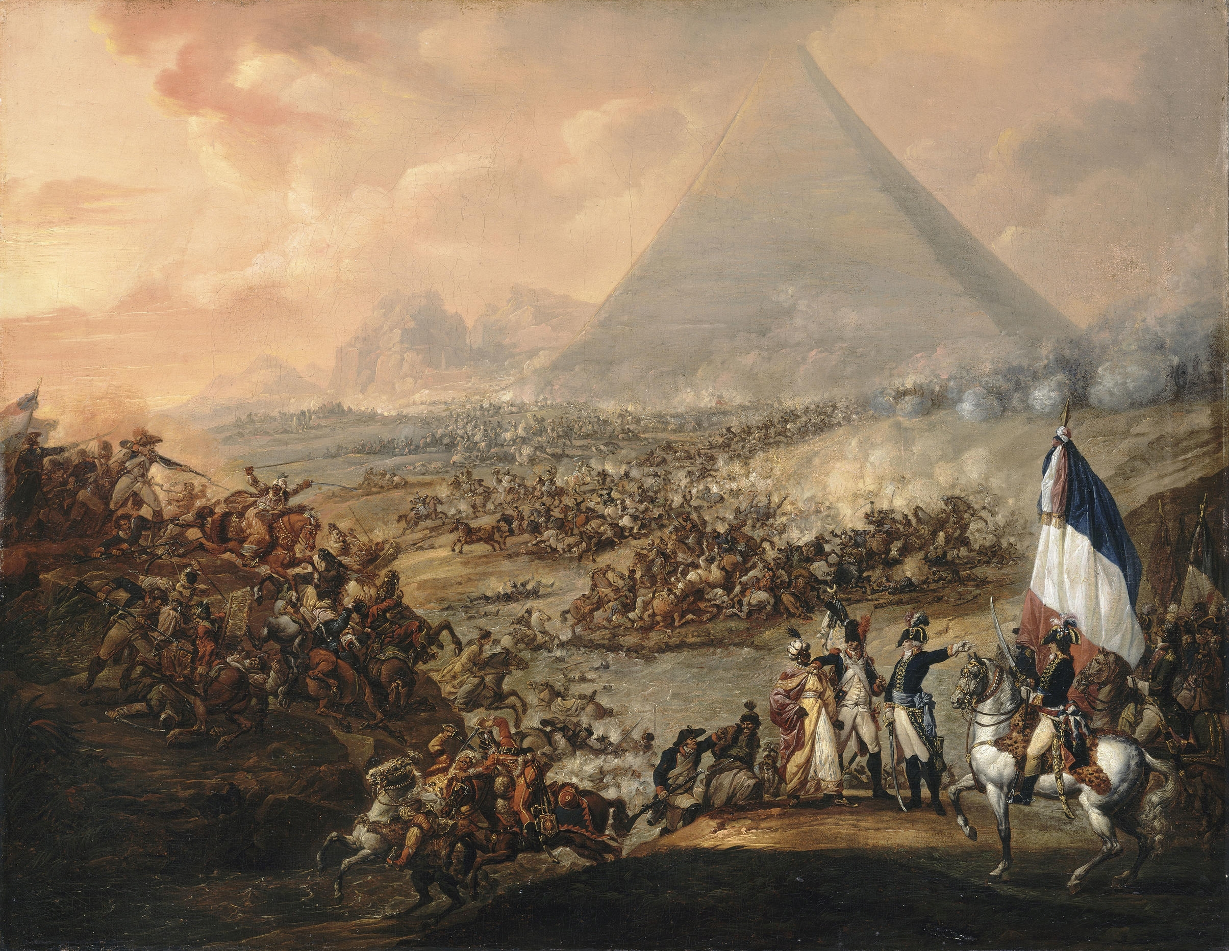 The Battle of the Pyramids, oil on canvas, 94 ...