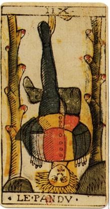 English: The Hanged Man card from the tarot de...