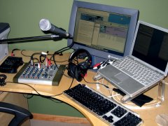 English: Home podcasting studio
