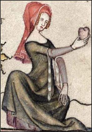 Illustration aus der französischen Version des Roman dAlexandre (geschrieben von Alexandre de Bernay im 12. Jahrhundert), Illustration von 1338-44, public domain