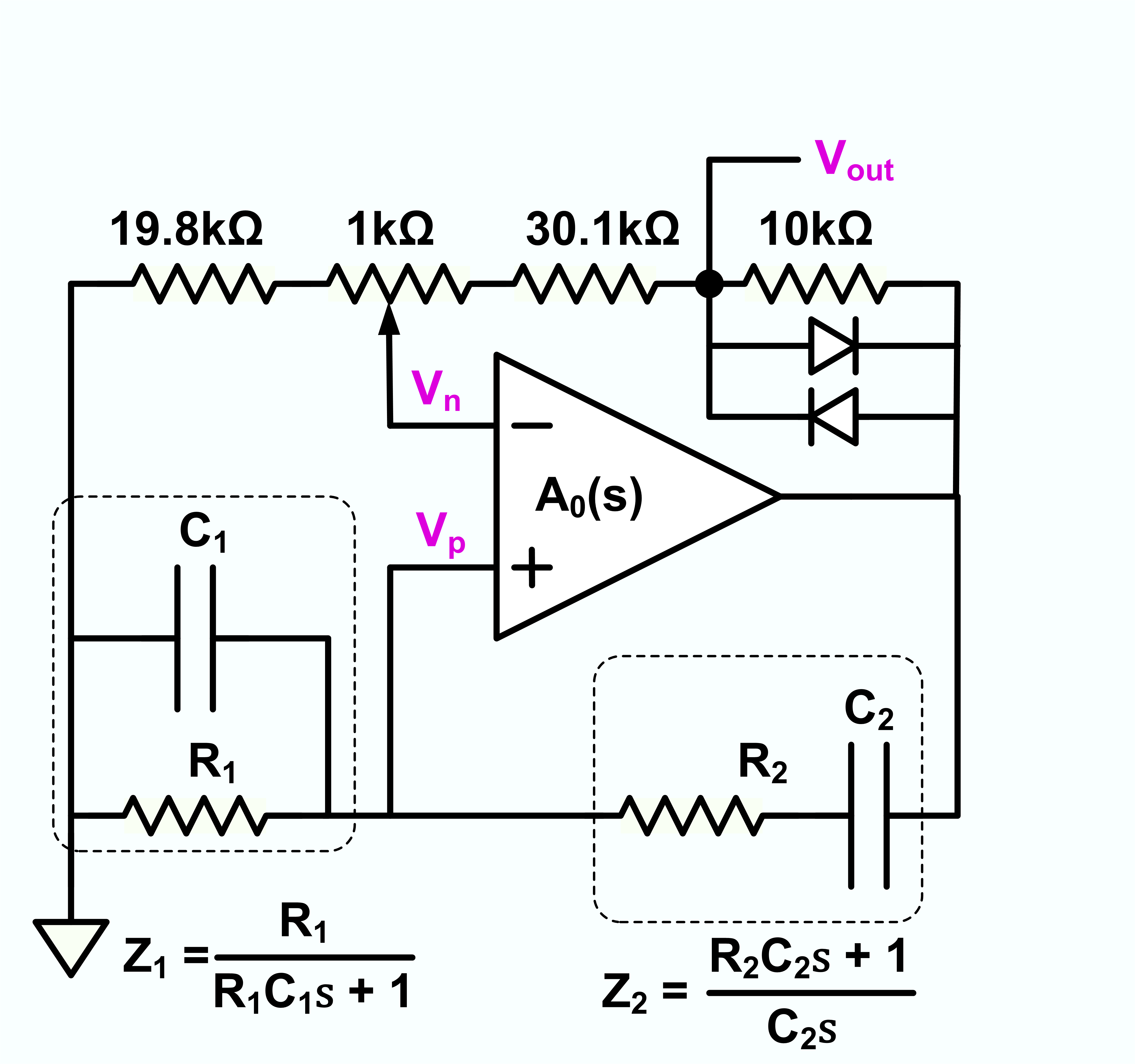File Wien Bridge Oscillator With Diode Limiting