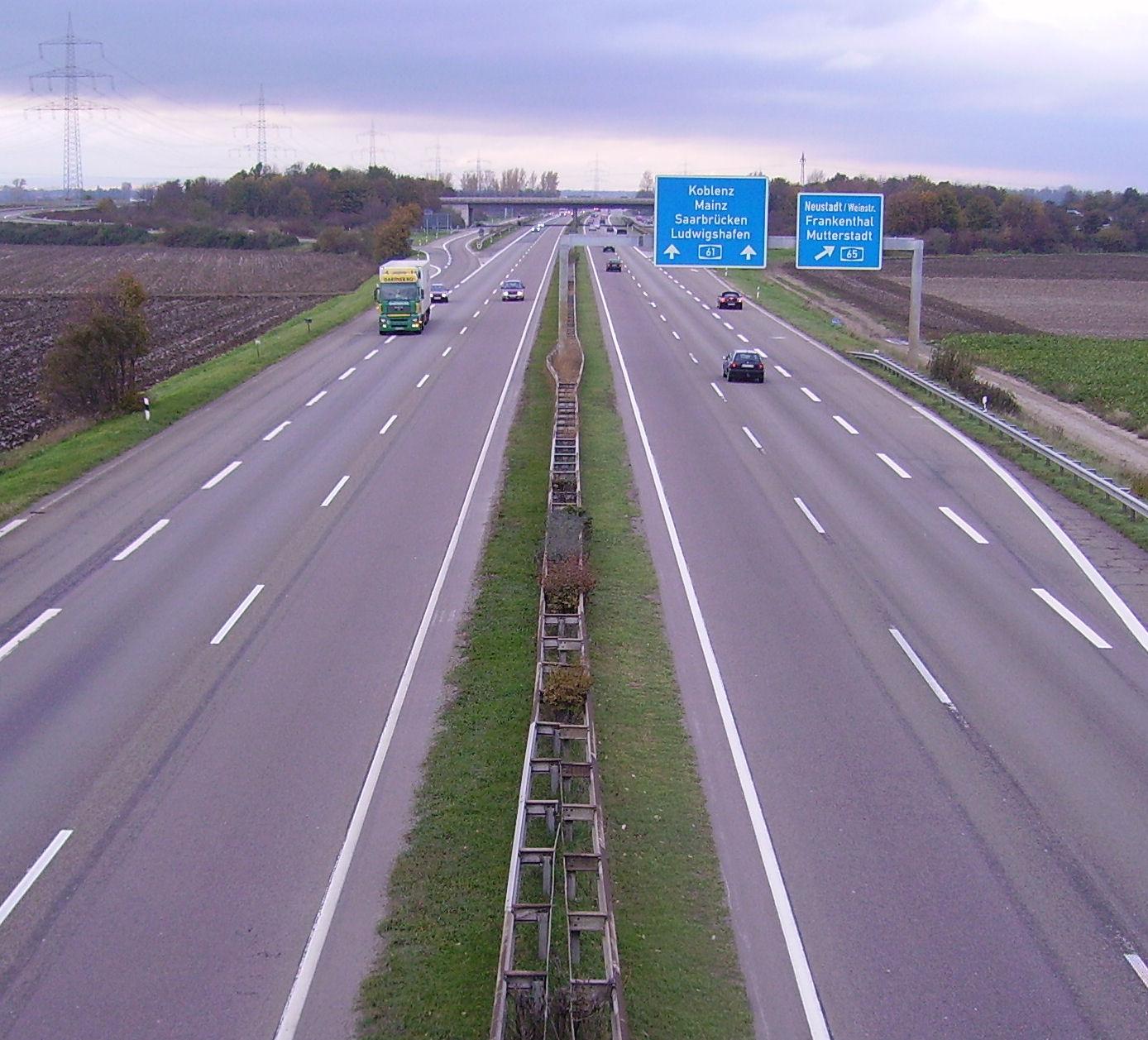 A 61 bei Dannstadt