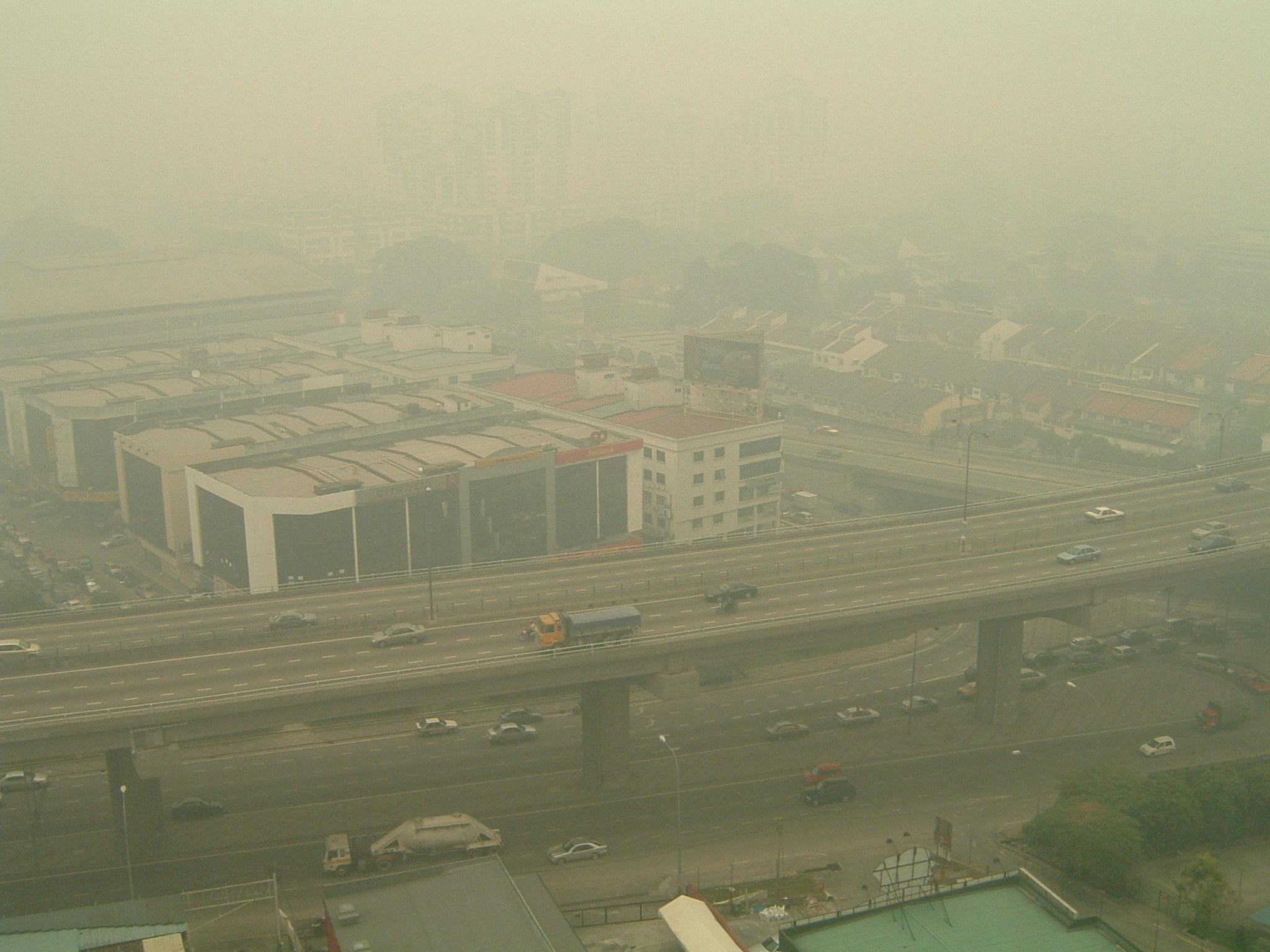 Haze over Kuala Lumpur, Malaysia