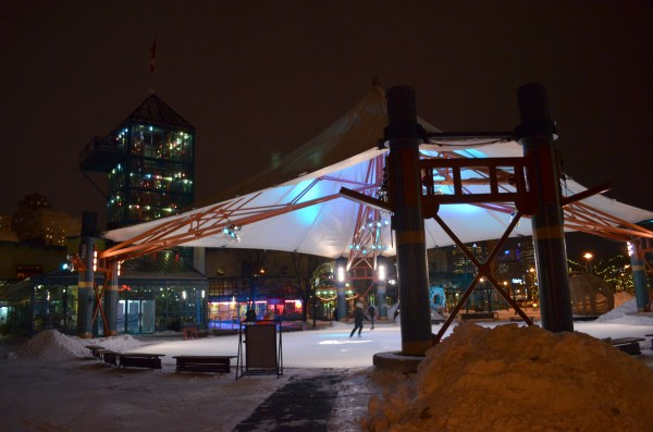 File:Ice skating under the canopy at The Forks, in ...