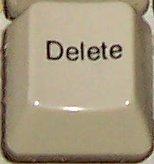 Delete key on PC keyboard