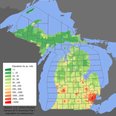 File Michigan population map png   Wikimedia Commons File Michigan population map png