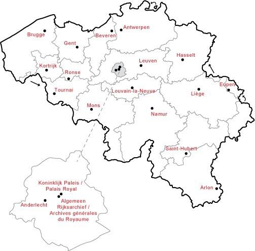 carte Belgique (Wikimédia)