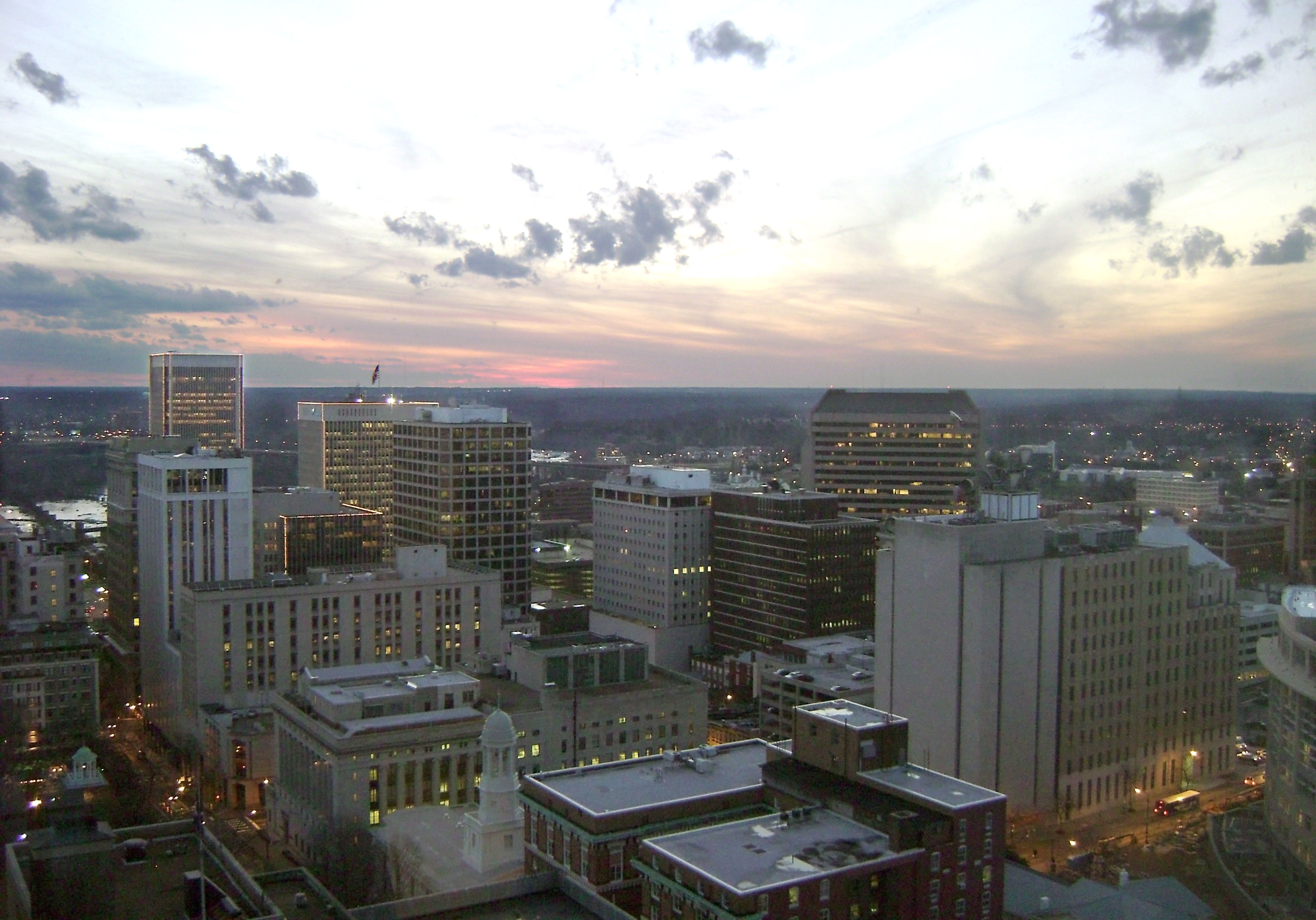 English: View of City of Richmond business dis...