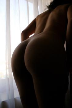English: Female buttocks