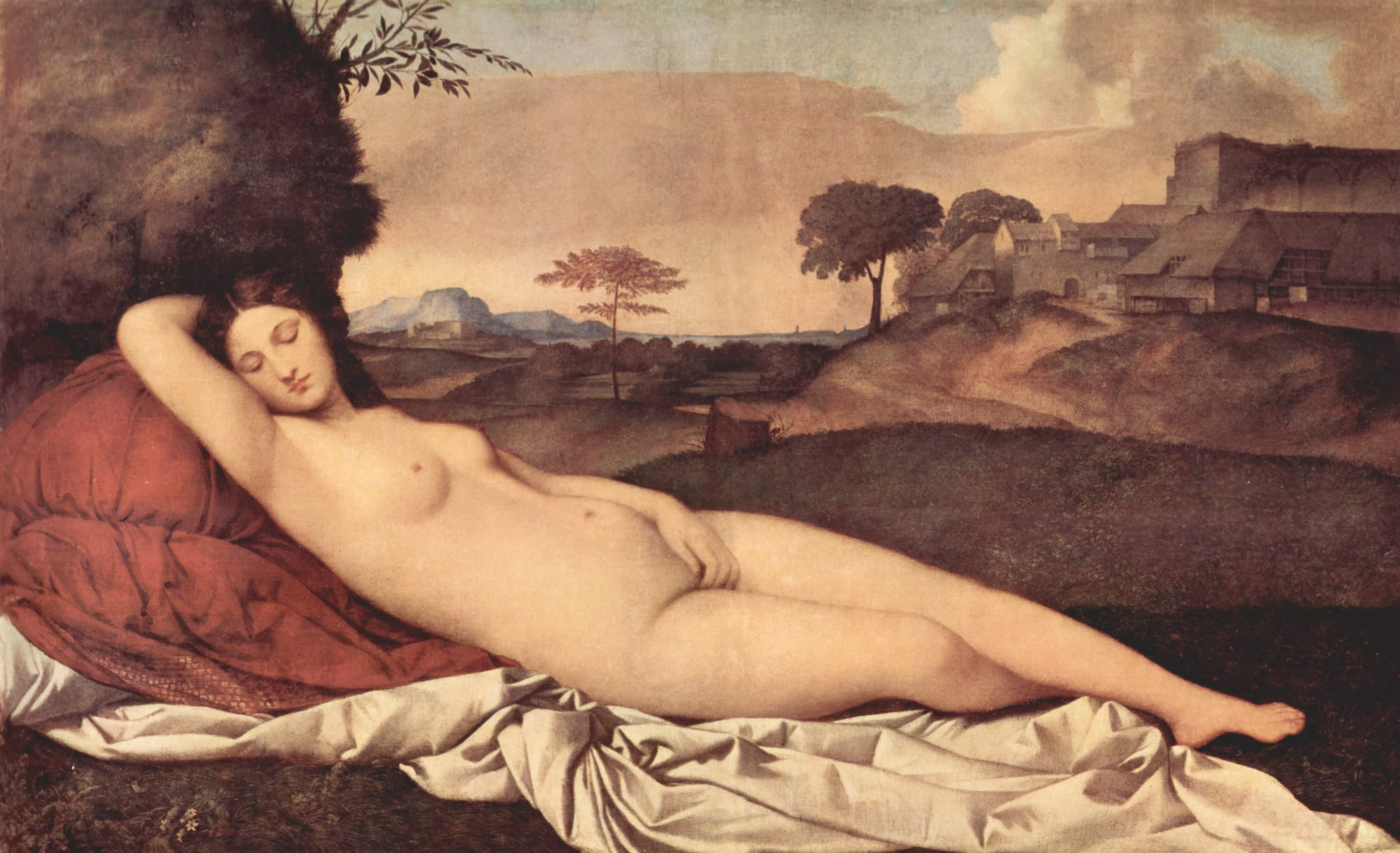 """Painting: """"Sleeping Venus"""" by Giorgione"""