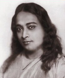 Graphic: portrait of Paramahansa Yogananda
