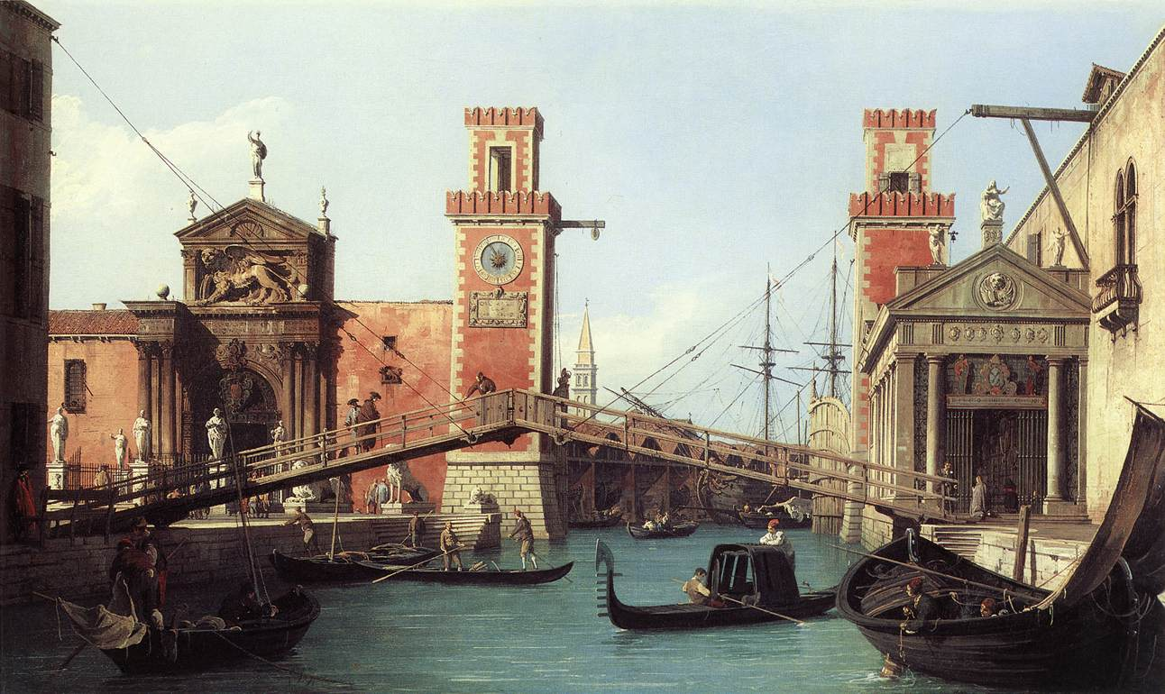 View of the Entrance to the Venetian Arsenal, ...