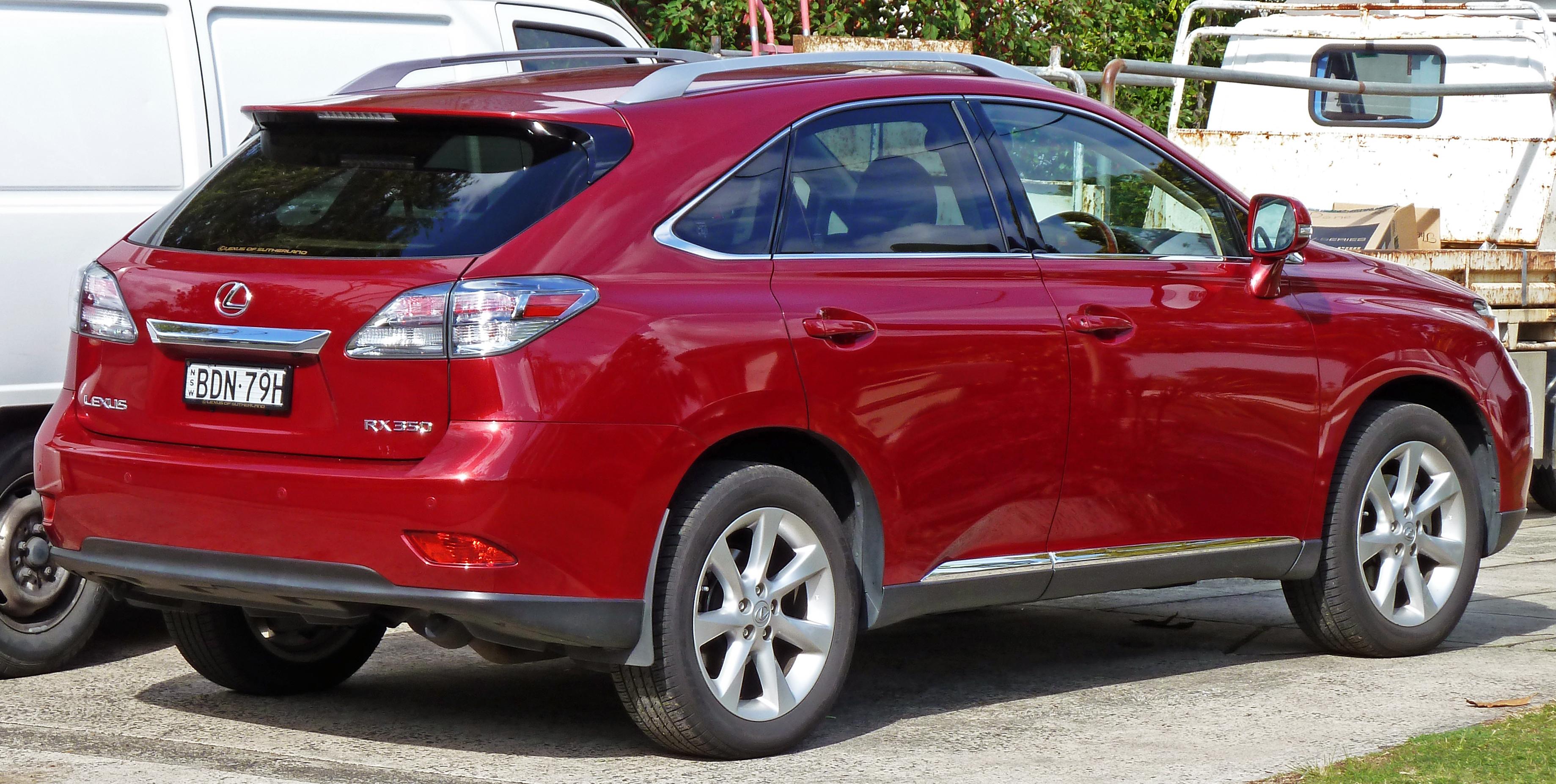File 2009 2010 Lexus RX 350 GGL15R Sports Luxury wagon 02