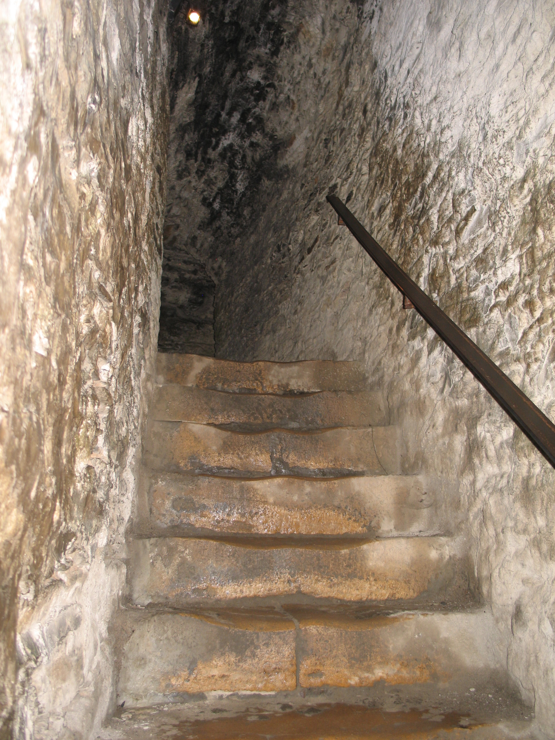 Perilous staircase in Bouillon Castle