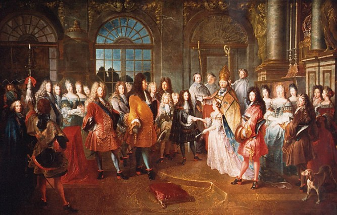Mariage du duc de Bourgogne le 7 décembre 1697, tableau d'Antoine Dieu. Versailles.jpg