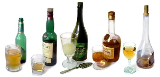 Alcoholic beverages montage