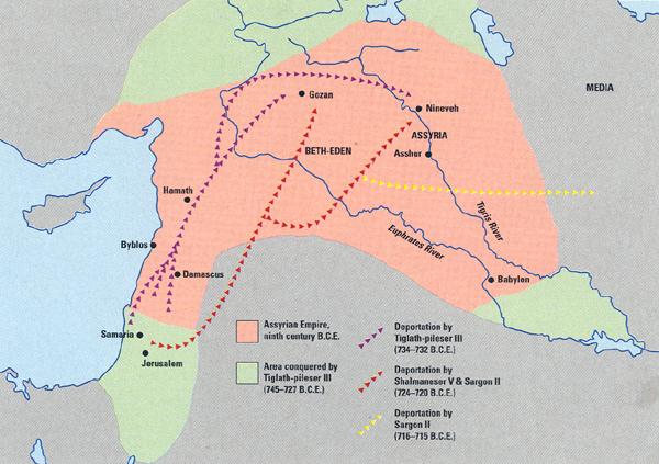 Deportaciones de los jud�os durante el Imperio Asirio.