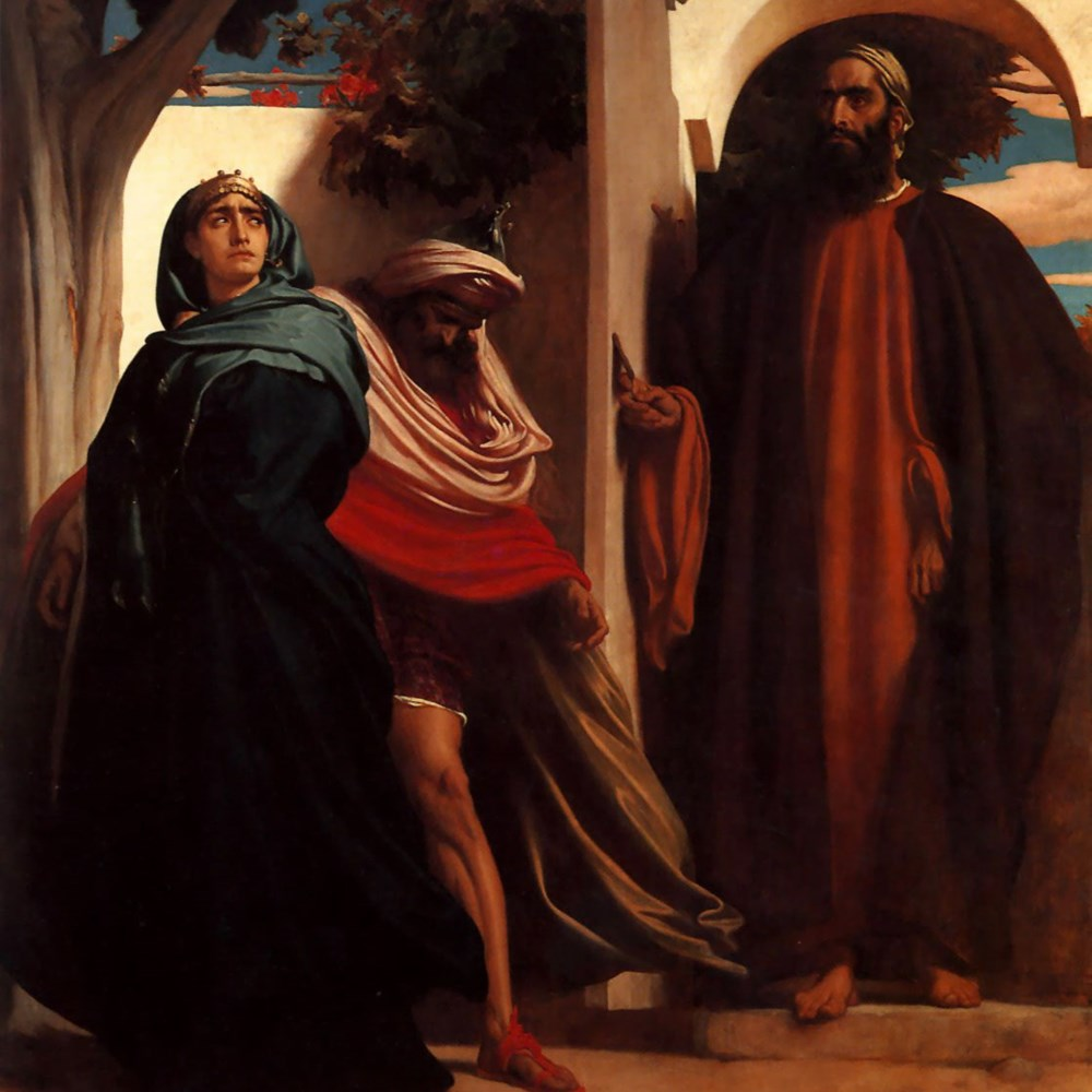 Leighton, Frederic - Jezabel and Ahab - c.1863