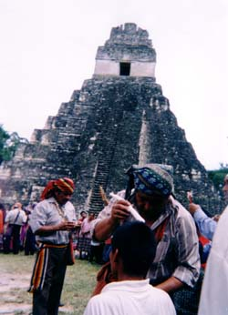 English: Maya priest performing a healing cerm...