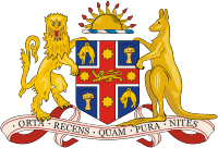 The New South Wales state Coat of Arms, previo...