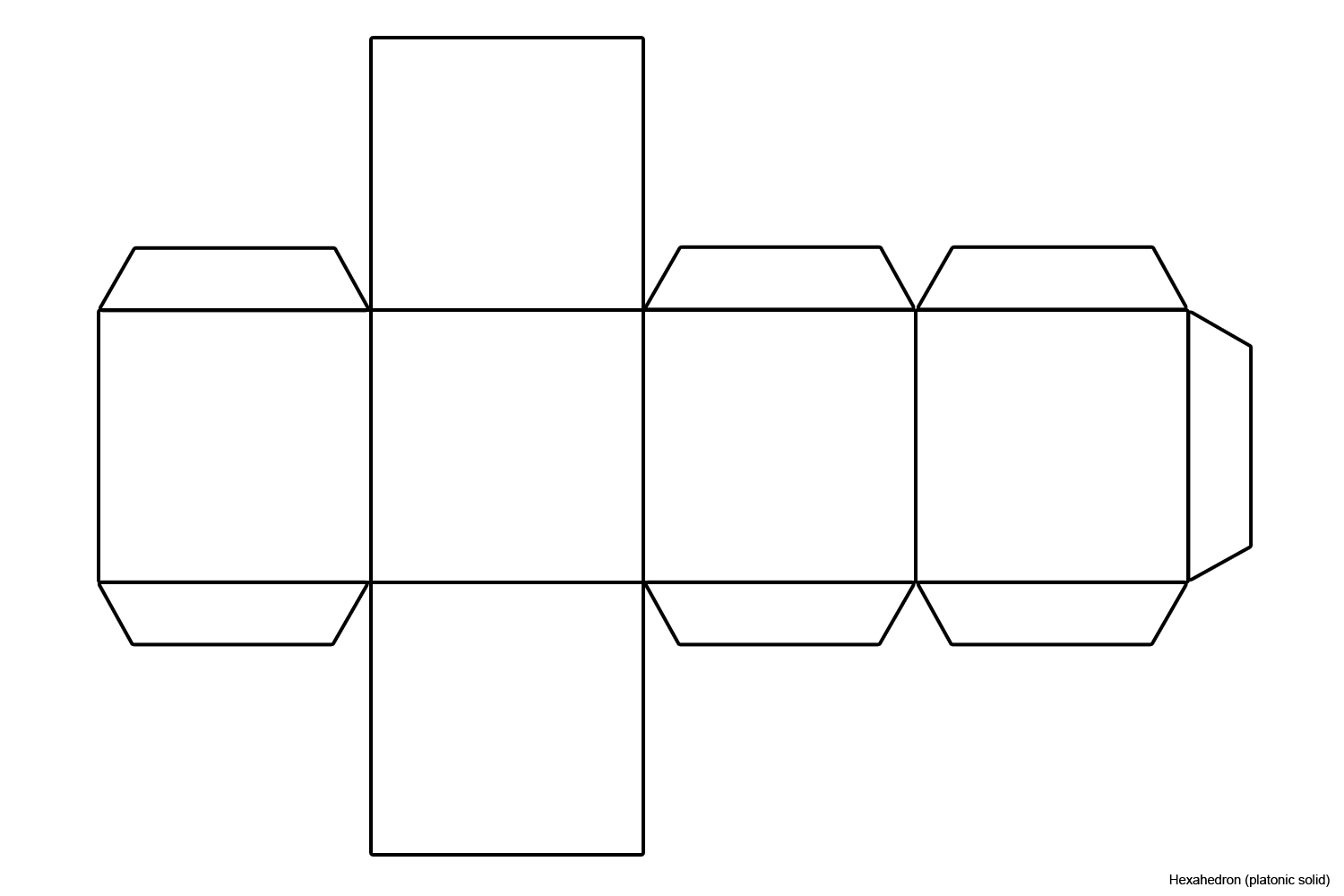 Image result for net cube template