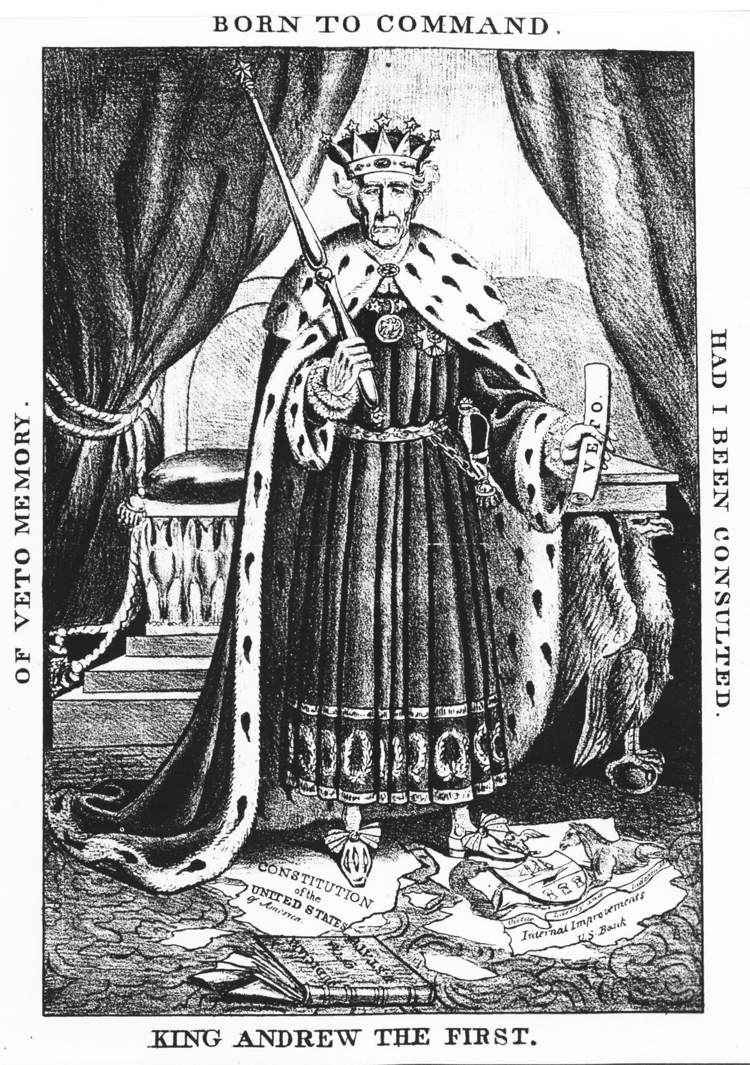 File King Andrew The First Political Cartoon Of President