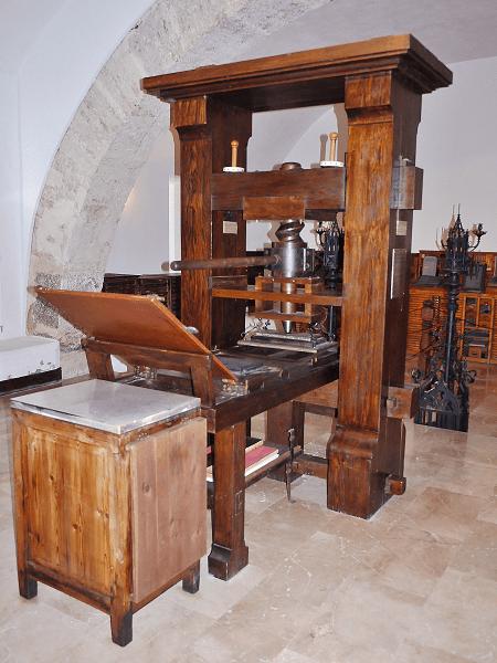 Prensa de Gutenberg. Réplica.
