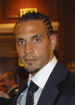 Rio Ferdinand, English footballer. Plays in th...