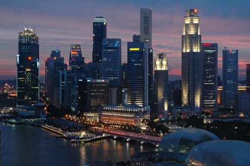 Singapore CBD Dusk