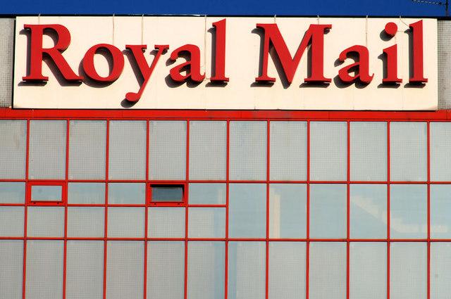 "English: ""Royal Mail"" sign, Belfast ..."