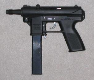 An Intratec TEC-DC9 with 32-round magazine; a ...