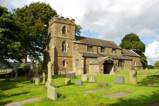 St James' parish church, Altham, Lancashire