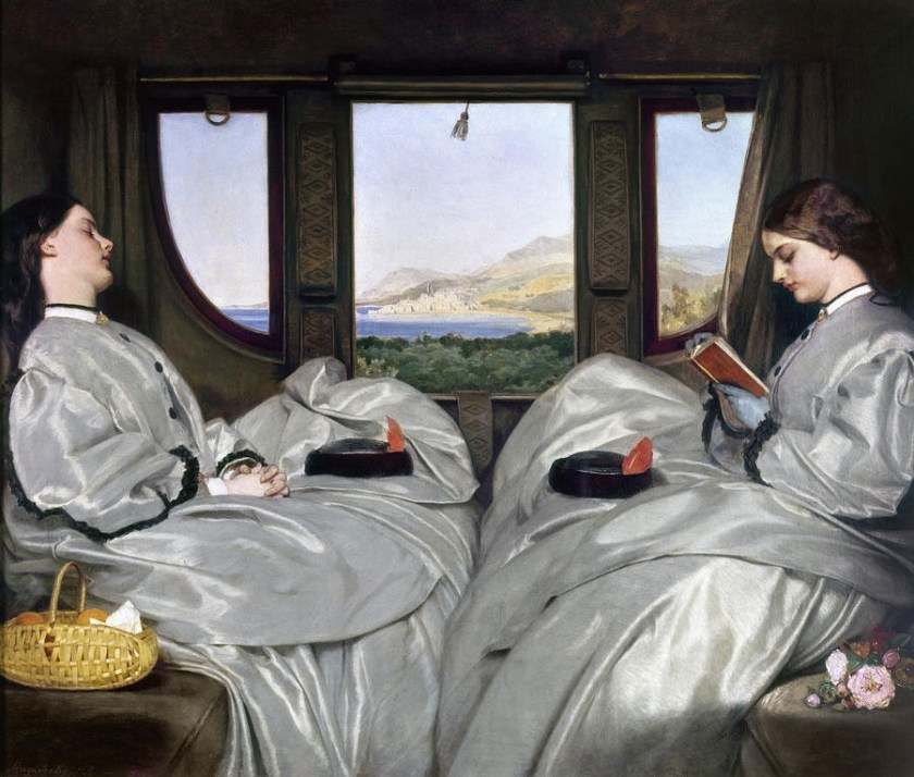Painting by Egg of two women in a carriage