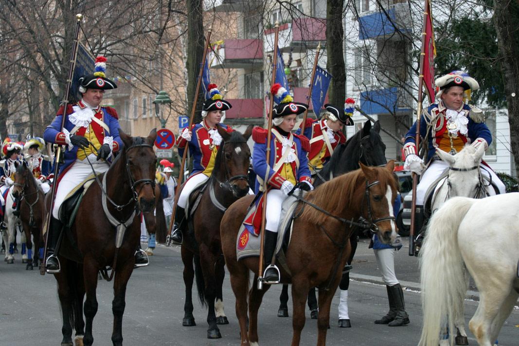 Reiterkorps der Mainzer Ranzen Garde.