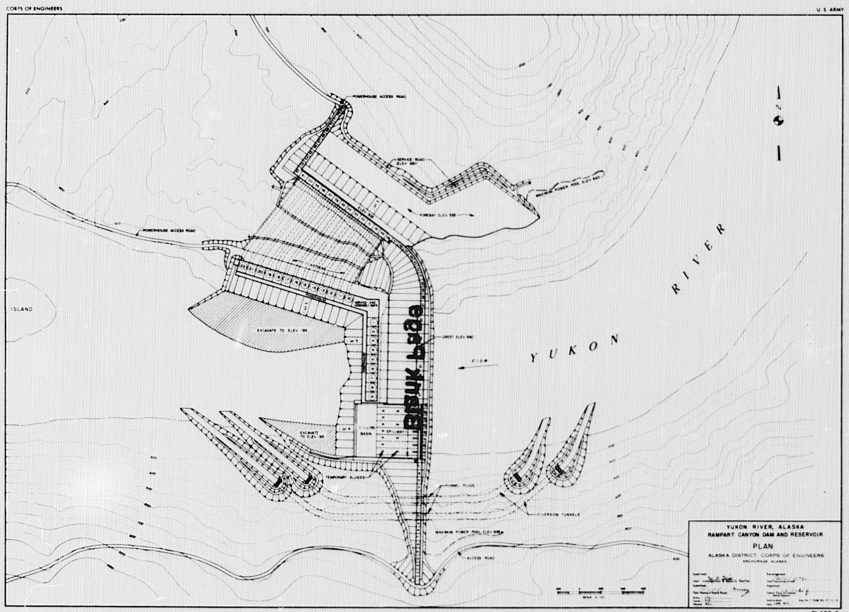 File Rampart Dam Plan