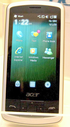 English: Acer beTouch e100 smartphone