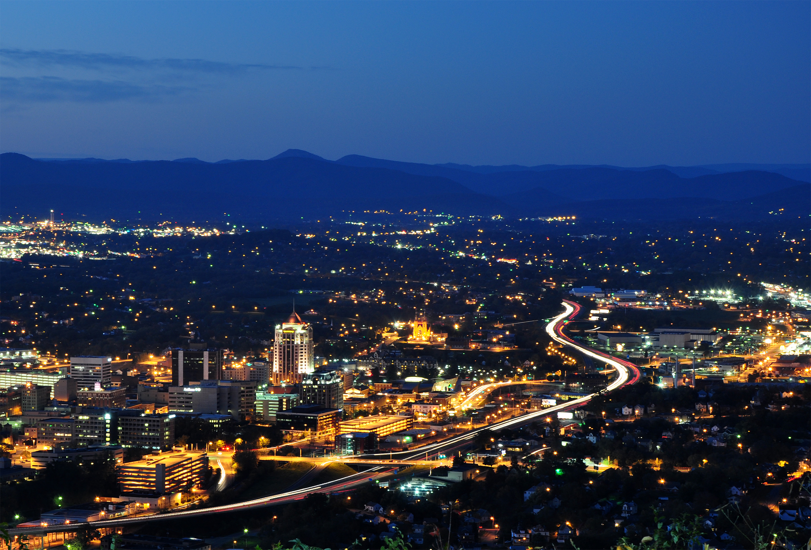 File Roanoke City Virginia From Mill Mountain Star At
