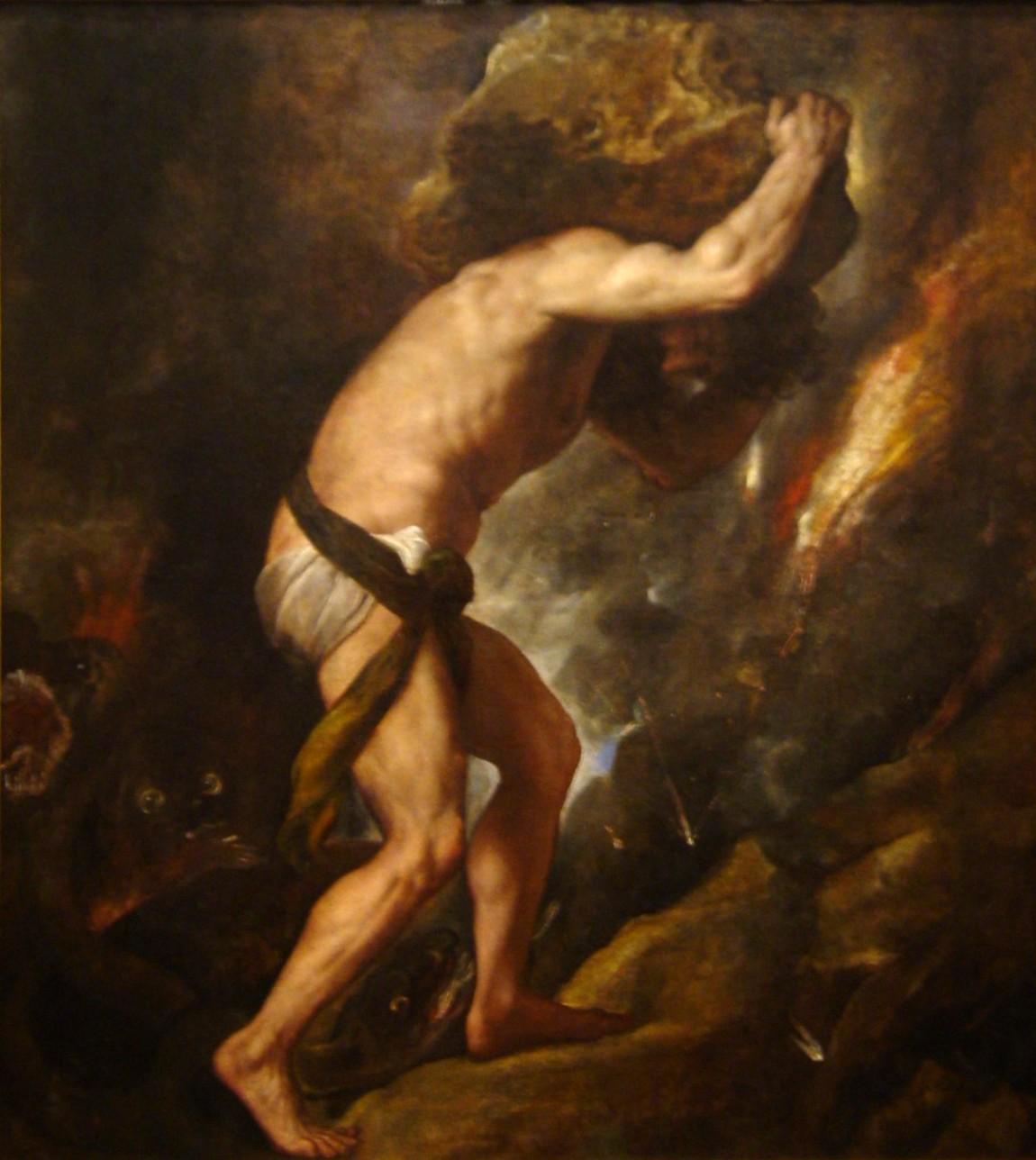 Sisyphus by Titian, 1549