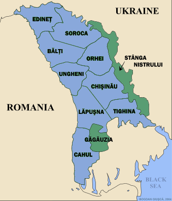 Confrontation Between Transnistria And Moldova Deepening - Transnistria map