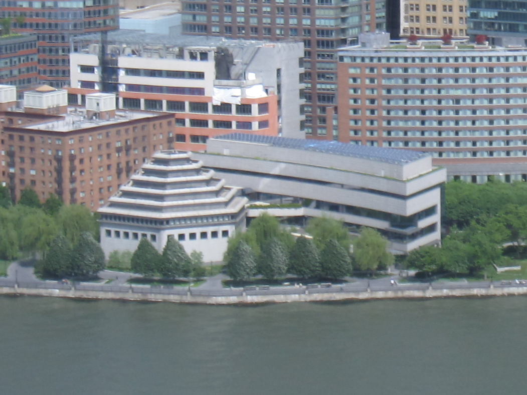 Aerial view of the Museum of Jewish Heritage