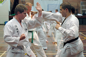 English: Rhee Tae Kwon-Do self-defence drill i...