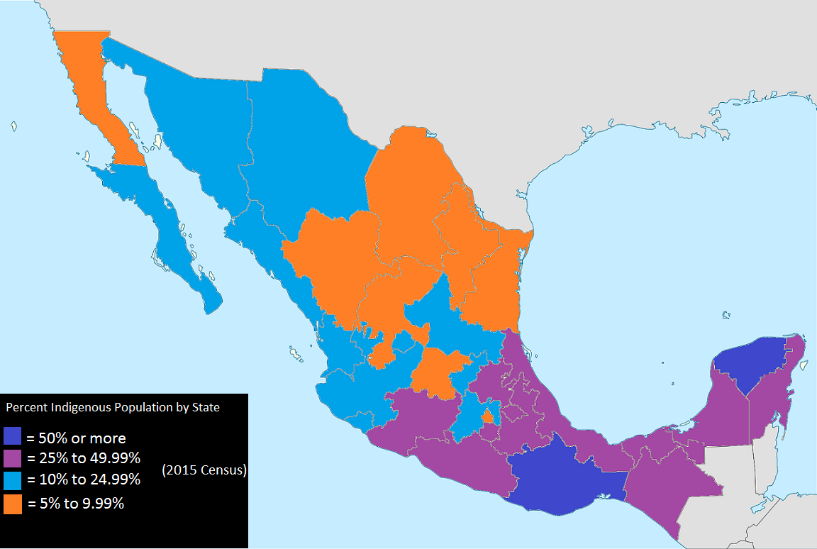 File Indigenous Population Percentage Of Mexico By State