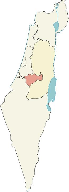 en: Jerusalem District in Israel. Deutsch: Lag...