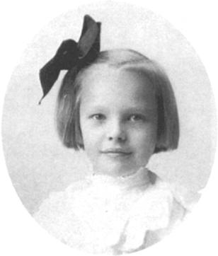 Young child Amelia Earhart