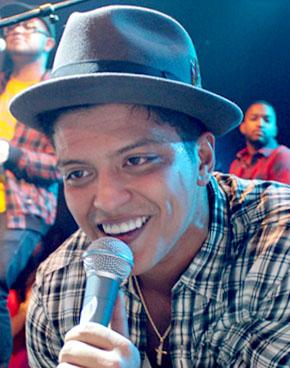 Bruno Mars performing in Las Vegas, Nevada on ...