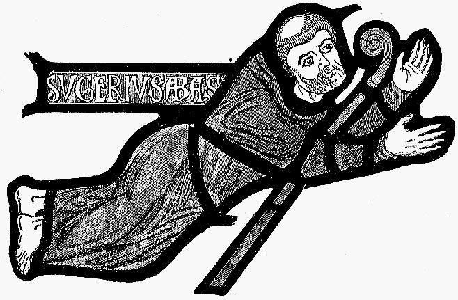 Suger de Saint-Denis en una vidriera medieva