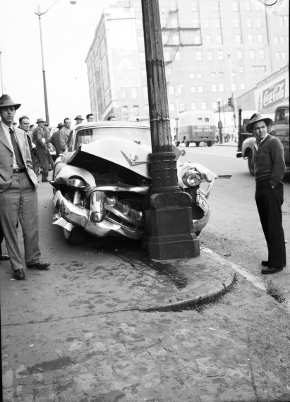 1954 cadillac cars » File Car accident  Seattle  1954 jpg   Wikimedia Commons File Car accident  Seattle  1954 jpg